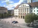 Archiv Foto Webcam Bahnhofplatz Sonneberg - Blick auf das Neue Rathaus 10:00