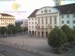 Archived image Webcam Bahnhofplatz Sonneberg - View of the Town Hall 00:00