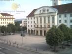 Archived image Webcam Bahnhofplatz Sonneberg - View of the Town Hall 02:00