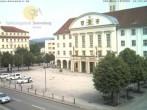Archived image Webcam Bahnhofplatz Sonneberg - View of the Town Hall 04:00