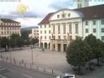 Archived image Webcam Bahnhofplatz Sonneberg - View of the Town Hall 06:00