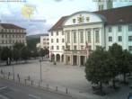 Archived image Webcam Bahnhofplatz Sonneberg - View of the Town Hall 08:00