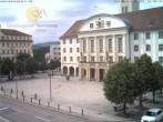 Archived image Webcam Bahnhofplatz Sonneberg - View of the Town Hall 10:00