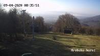 Archiv Foto Webcam Skigebiet Sturmer Bournak - Hrobska horni Abfahrt 02:00