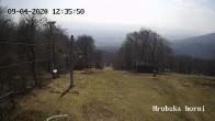 Archiv Foto Webcam Skigebiet Sturmer Bournak - Hrobska horni Abfahrt 06:00