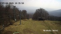 Archiv Foto Webcam Skigebiet Sturmer Bournak - Hrobska horni Abfahrt 08:00