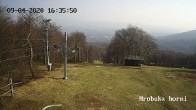 Archiv Foto Webcam Skigebiet Sturmer Bournak - Hrobska horni Abfahrt 10:00