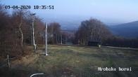 Archiv Foto Webcam Skigebiet Sturmer Bournak - Hrobska horni Abfahrt 12:00