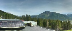 Archived image Webcam Schöneben ski resort: View base station Höllental 04:00