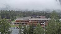 Archiv Foto Webcam Ehrwald: Bereich Talstation Tiroler Zugspitzbahn 02:00