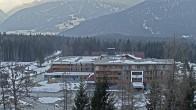 Archiv Foto Webcam Ehrwald: Bereich Talstation Tiroler Zugspitzbahn 10:00
