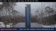 Archiv Foto Webcam Perisher: Neuschnee Snow Stake 00:00