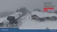 Archiv Foto Webcam Live-Cam Mutterer Alm Bergstation 22:00