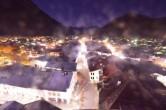 Archiv Foto Webcam Alpenwelt Karwendel - Mittenwald Kirche 22:00