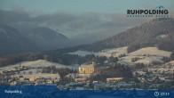 Archiv Foto Webcam Ruhpolding: Panoramablick auf den Ort 01:00