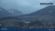 Archiv Foto Webcam Ruhpolding: Panoramablick auf den Ort 19:00