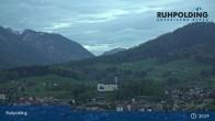 Archiv Foto Webcam Ruhpolding: Panoramablick auf den Ort 21:00