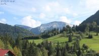 Archiv Foto Webcam Oberstaufen: Biohotel Schratt - Blick zum Hochgrat 13:00