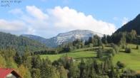 Archiv Foto Webcam Oberstaufen: Biohotel Schratt - Blick zum Hochgrat 15:00