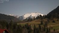 Archiv Foto Webcam Oberstaufen: Biohotel Schratt - Blick zum Hochgrat 18:00