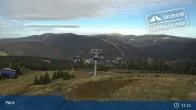 Archiv Foto Webcam Spindlermühle: Bergstation Sessellift Svaty Petr 10:00