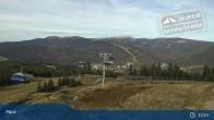 Archiv Foto Webcam Spindlermühle: Bergstation Sessellift Svaty Petr 12:00