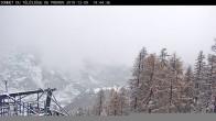 Archiv Foto Webcam Pelvoux Vallouise - Bergstation Préron 08:00