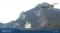 Archiv Foto Webcam Schwangau - Schloss Hohenschwangau 19:00