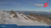 "Archiv Foto Webcam Hintertuxer Gletscher: ""Gefrorene Wand""-Gipfel 03:00"