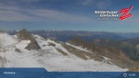 "Archiv Foto Webcam Hintertuxer Gletscher: ""Gefrorene Wand""-Gipfel 05:00"