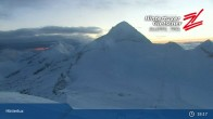 "Archiv Foto Webcam Hintertuxer Gletscher: ""Gefrorene Wand""-Gipfel 22:00"