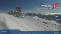 "Archiv Foto Webcam Hintertuxer Gletscher: ""Gefrorene Wand""-Gipfel 08:00"