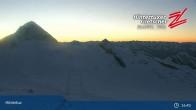 "Archiv Foto Webcam Hintertuxer Gletscher: ""Gefrorene Wand""-Gipfel 21:00"