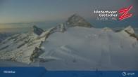 "Archiv Foto Webcam Hintertuxer Gletscher: ""Gefrorene Wand""-Gipfel 01:00"