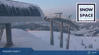 Archiv Foto Webcam Flachau: Starjet 3 Bergstation 21:00