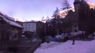 Archiv Foto Webcam Zermatt - Kirche 02:00