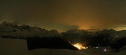 Archiv Foto Webcam Zermatt Hörnlibahn Bergstation - Blick zum Matterhorn 18:00