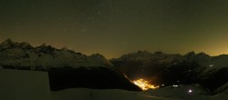 Archiv Foto Webcam Zermatt Hörnlibahn Bergstation - Blick zum Matterhorn 20:00
