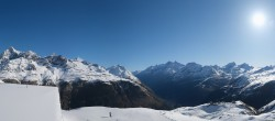 Archiv Foto Webcam Zermatt Hörnlibahn Bergstation - Blick zum Matterhorn 02:00