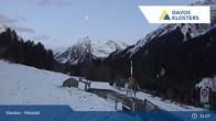 Archiv Foto Webcam Klosters Monbiel Parkplatz 19:00