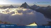Archiv Foto Webcam Zermatt - Matterhorn Glacier Paradise 13:00