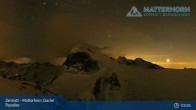 Archived image Webcam Zermatt: Matterhorn Glacier Paradise 23:00