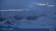 Archiv Foto Webcam Valluga - St. Anton 01:00