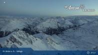 Archived image Webcam Valluga mountain (St. Anton) 08:00