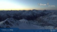 Archiv Foto Webcam Valluga - St. Anton 01:00