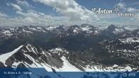 Archived image Webcam Valluga mountain (St. Anton) 07:00