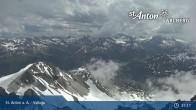 Archived image Webcam Valluga mountain (St. Anton) 09:00