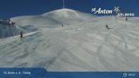 Archived image Webcam Galzig mountain station 08:00