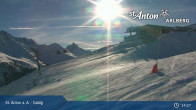 Archived image Webcam Galzig mountain station 13:00