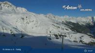 Archived image Webcam Galzig mountain station 14:00